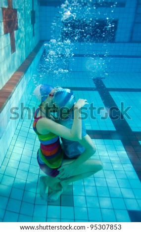 Young Couple Kissing Underwater In The Pool Stock Photo 95307853 Shutterstock