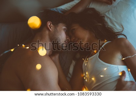 Young couple lifestyle moments at home