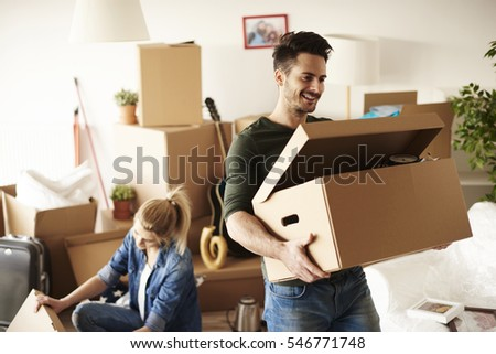 Young couple moving in to house  #546771748