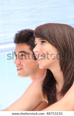 Young couple on holiday together