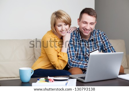 Couple at home