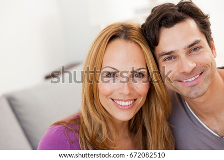 young couple smiling #672082510