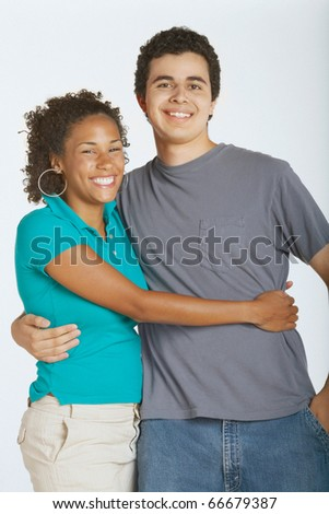 Young couple smiling for the camera