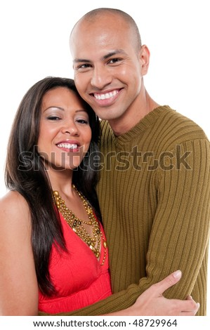 Young couple very happy and affectionate