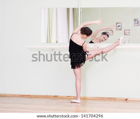 young dancer in a dance class