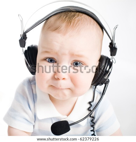 young DJ - stock photo