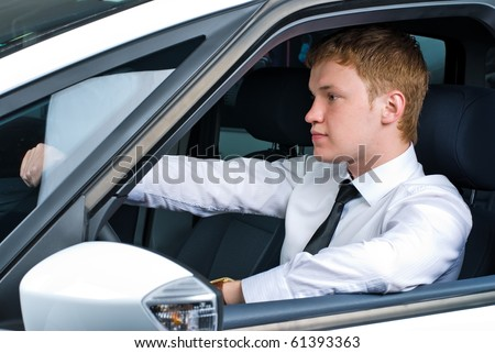 Young driving man
