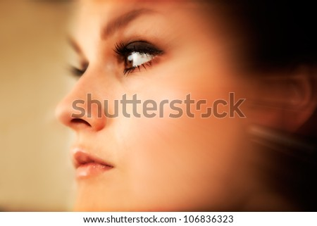 Young elegant lady in glamour, beauty fashion. Make-up style