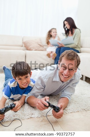 Young family enjoys spending their spare time together