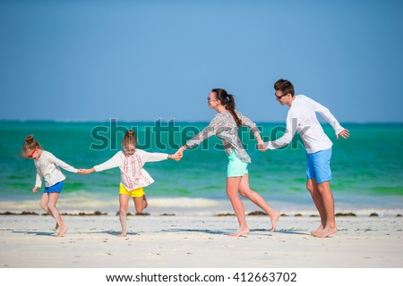 Young family on vacation #412663702