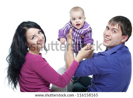 Young family with a baby