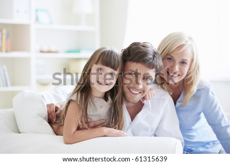 Young family with a child at home