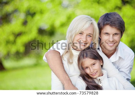 Young family with children outdoors