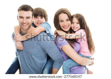 Young family with two kids  #277568147