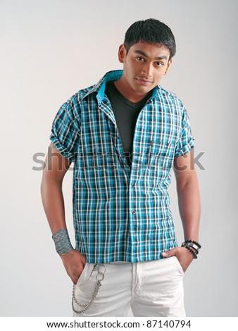 young fashion man model
