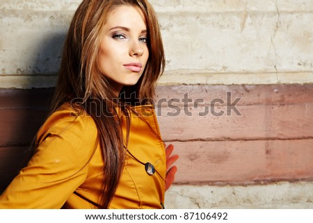 young fashion woman  in autumn color