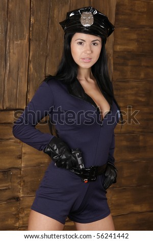 Young female police officer