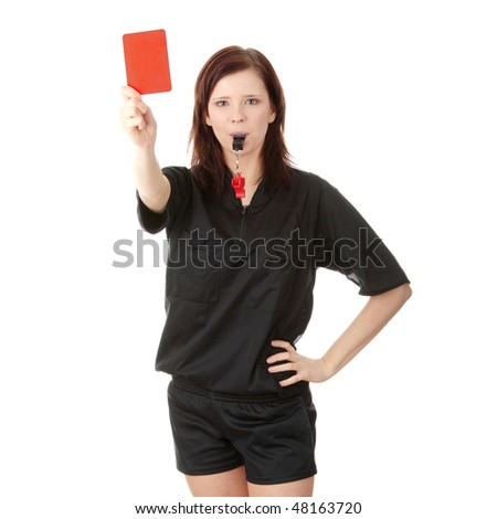 http://image.shutterstock.com/display_pic_with_logo/52959/52959,1267982175,33/stock-photo-young-female-referee-showing-the-red-card-isolated-on-white-48163720.jpg