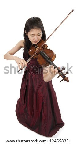 young female violin player