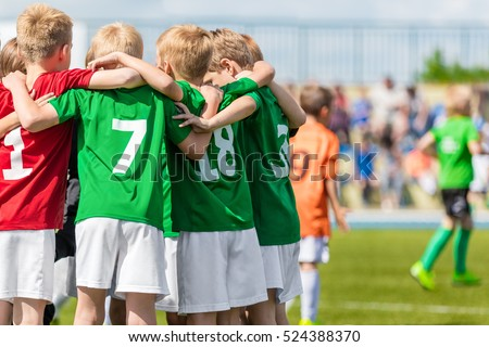 Young Football Team. Children Kids Play Sports. Children Sports Team United Ready to Play Game. Children Team Sport. Youth Sports For Children. Boys in Sports Uniforms. Young Boys in Soccer Sportswear