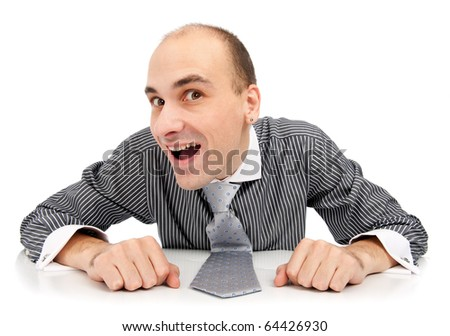 Young funny businessman - stock photo
