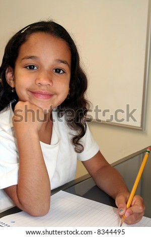 Young Girl at Her School