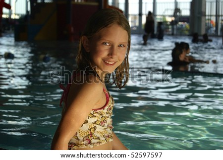 Young Girl at the Pool