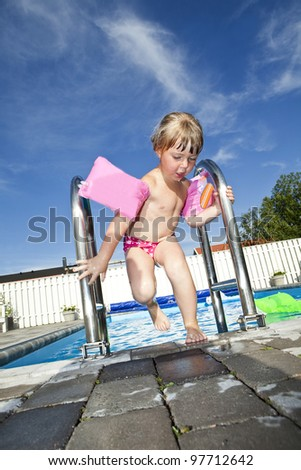 Young Girl at the Swimming Pool