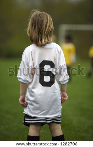 Young Girl at Youth Soccer Game
