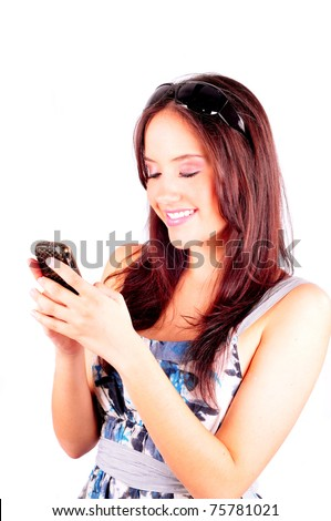 Young girl chatting on a cell phone