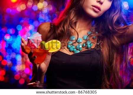 Young girl clubbing at nightclub