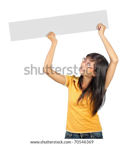 young girl holding a long white card