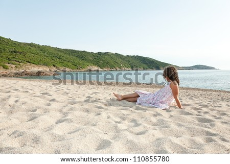 young girl relax on vacation