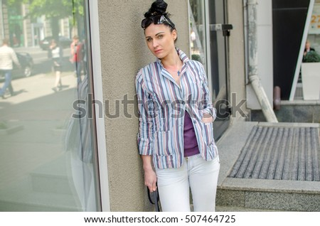 1a27194b2 Typical American teenager posing for… Stock Photo 172430696 - Avopix.com
