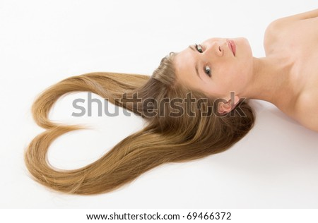 Young girl with awesome long hair