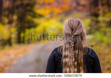 young girl with beautiful hair...