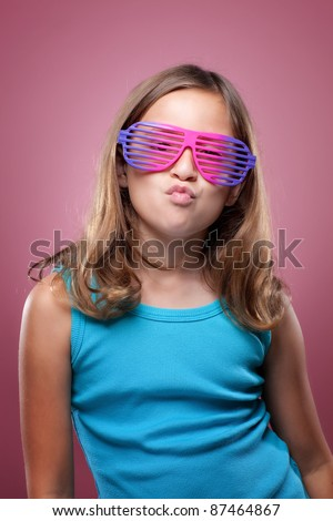 Young Girl With Retro Glasses