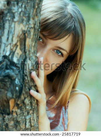 Young girl with tree #25817719