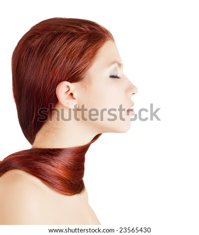Lifestyle - Pagina 6 Stock-photo-young-girl-wrapped-with-her-hair-on-white-background-23565430