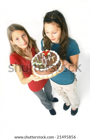 girls with happy birthday