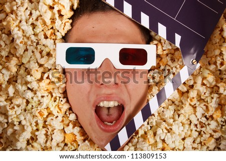 young guy in the popcorn