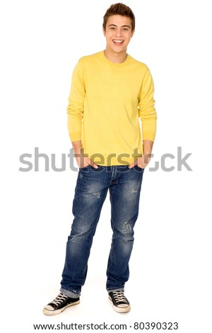 Young guy standing