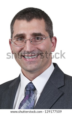 Young handsome businessman looking for work