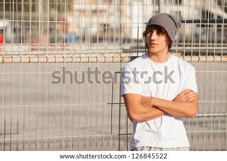 young handsome man portrait #126845522