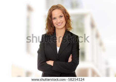Young happy and beautiful businesswoman