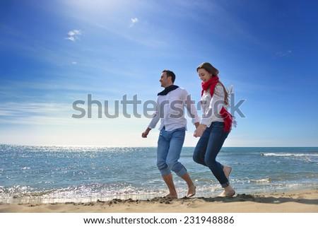 young happy couple enjoying at sea #231948886