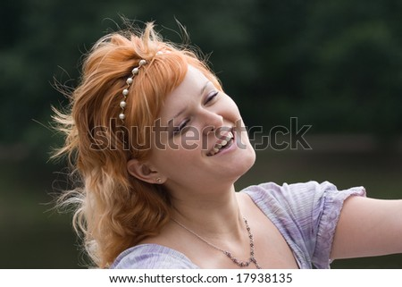 young happy woman #17938135