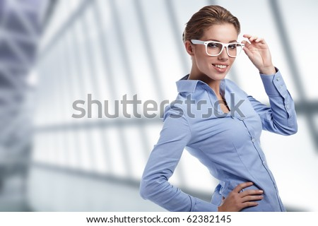 Young happy women or student on the business background