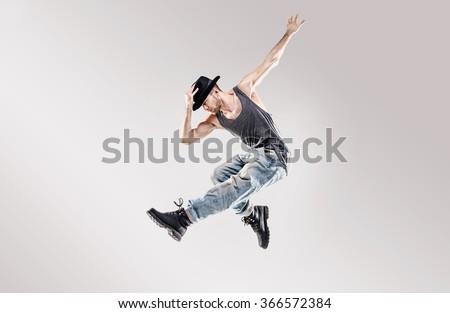 Young hip-hop dancer #366572384