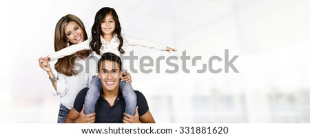 Young hispanic family who love being with each other #331881620